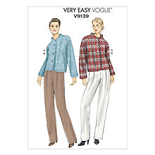Buy Vogue Women's Very Easy Jacket & Trousers Sewing Pattern, 9139 Online at johnlewis.com