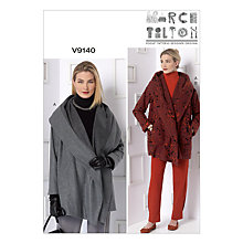 Buy Vogue Women's Marcy Tilton Coat & Trousers Sewing Pattern, 9140 Online at johnlewis.com