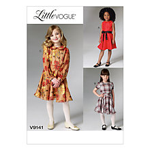 Buy Vogue Girls' Little Vogue Party Dress Sewing Pattern, 9141 Online at johnlewis.com