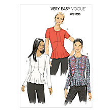 Buy Vogue Very Easy Women's Top Sewing Pattern, 9128 Online at johnlewis.com
