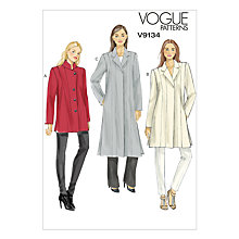Buy Vogue Women's Smart Coat Sewing Pattern, 9134 Online at johnlewis.com