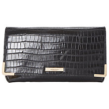 Buy Dune Edee Foldover Frame Detail Clutch Bag, Black Online at johnlewis.com