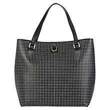 Buy Karen Millen Perforated Bucket Bag, Black Online at johnlewis.com
