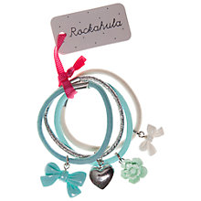 Buy Rockahula Hearts and Flowers Hair Ponies, Pack of 4, Blue Multi Online at johnlewis.com