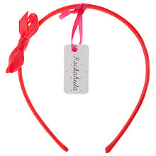 Buy Rockahula Twisted Bow Alice Band, Red Online at johnlewis.com