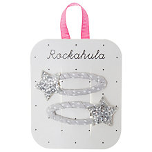 Buy Rockahula Glitter Star Hair Clips, Pack of 2, Silver Online at johnlewis.com