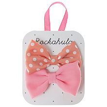 Buy Rockahula Spotty and Plain Bow Clips, Pack of 2 Online at johnlewis.com