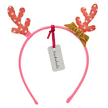 Buy Rockahula Spot Print Reindeer Ears Alice Band, Gold/Red Online at johnlewis.com