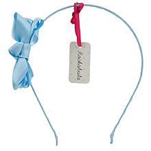 Buy Rockahula Satin Ruffle Bow Alice Band, Blue Online at johnlewis.com
