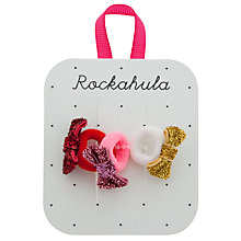 Buy Rockahula Mini Glitter Bow Hair Ponies, Pack of 3 Online at johnlewis.com