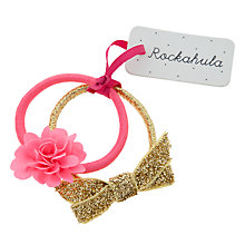 Buy Rockahula Flower and Bow Ponies, Pack of 2, Pink/Gold Online at johnlewis.com