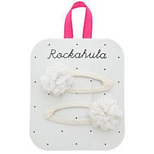 Buy Rockahula Glitter Chiffon Pom Pom Clips, Pack of 2, Ivory Online at johnlewis.com