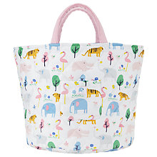 Buy John Lewis Baby Animal Safari Storage Bag, White/Multi Online at johnlewis.com