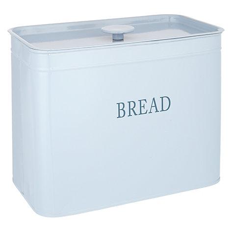 buy john lewis classic blue enamel bread bin john lewis. Black Bedroom Furniture Sets. Home Design Ideas