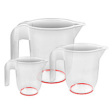 Buy John Lewis Plastic Measuring Jugs, Set of 3 Online at johnlewis.com
