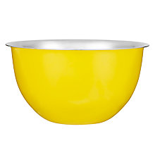 Buy John Lewis Stainless Steel Mixing Bowl, Yellow Online at johnlewis.com
