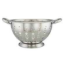Buy John Lewis Stainless Steel Footed Colander, 24cm Online at johnlewis.com