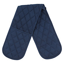 Buy House by John Lewis Plain Navy Oven Glove Online at johnlewis.com