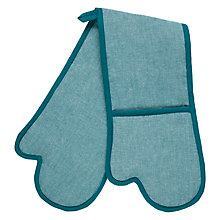 Buy John Lewis Oven Glove, Teal Online at johnlewis.com