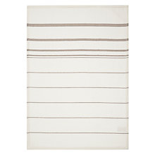 Buy John Lewis Thick Waffle Stripe Tea Towel, Beige Online at johnlewis.com