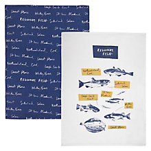 Buy John Lewis Coastal Fish Tea Towels, Set of 2 Online at johnlewis.com