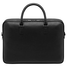 Buy Mulberry Theo Leather Travel Document Briefcase, Black Online at johnlewis.com