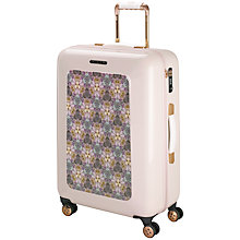 Buy Ted Baker Geo Print 4-Wheel 69.5cm Medium Suitcase, Nude Pink With Print Online at johnlewis.com
