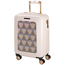 Buy Ted Baker Geo Print 4-Wheel 54cm Small Cabin Suitcase, Nude Pink With Print Online at johnlewis.com