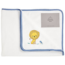 Buy John Lewis Baby Fleece Lion Blanket, White Online at johnlewis.com