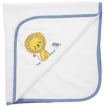 Buy John Lewis Baby Lion Cuddle Robe, White Online at johnlewis.com