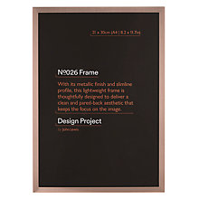 "Buy John Lewis Rose Gold Photo Frame, A4 (21 x 30cm/8.2 x 11.7"") Online at johnlewis.com"