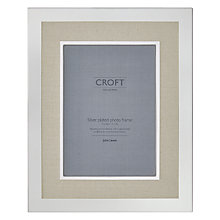 "Buy John Lewis Croft Silver Edge Linen Photo Frame, 5 x 7"" Online at johnlewis.com"