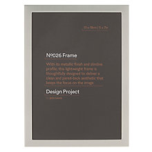 "Buy John Lewis Pewter Finish Photo Frame, 5 x 7"" Online at johnlewis.com"