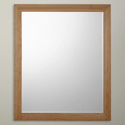 John Lewis Croft Oak Large Rectangle Mirror, 120 x 100cm