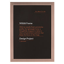 "Buy John Lewis Rose Gold Photo Frame, 5 x 7"" Online at johnlewis.com"