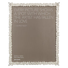 "Buy John Lewis Jasmine Silver Plated Photo Frame, 8 x 10"" Online at johnlewis.com"
