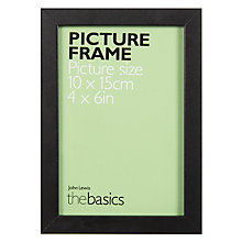 "Buy John Lewis The Basics Picture Frame, 4 x 6"", Black Online at johnlewis.com"