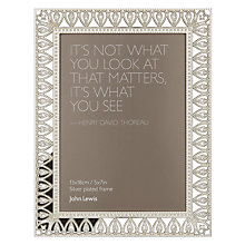 "Buy John Lewis Belle Silver Plated Photo Frame, 5 x 7"" Online at johnlewis.com"