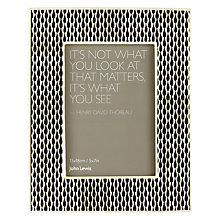 "Buy John Lewis White Boned Edged Photo Frame, 5 x 7"" Online at johnlewis.com"