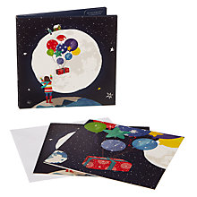 Buy John Lewis Man on the Moon Charity Christmas Cards, Pack of 10 Online at johnlewis.com