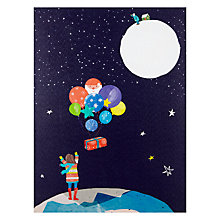 Buy John Lewis Man on the Moon Lit Canvas Online at johnlewis.com