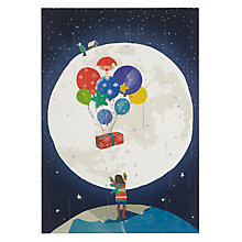 Buy John Lewis Man on the Moon Paper Advent Calendar Online at johnlewis.com