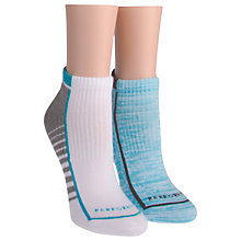 Buy Calvin Klein Performance Hiker Sock Liners, White/Blue Online at johnlewis.com