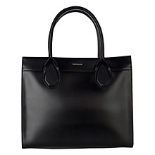 Buy Karen Millen Large Leather Tote Bag, Black Online at johnlewis.com