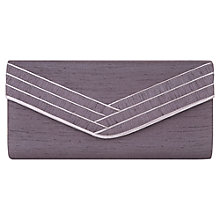 Buy Jacques Vert Piped Bow Clutch Bag, Dark Purple Online at johnlewis.com