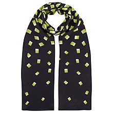 Buy Precis Petite Silk Squares Print Scarf, Multi Black Online at johnlewis.com