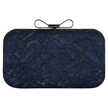 Buy Precis Petite Lace Box Clutch Bag, Navy Online at johnlewis.com