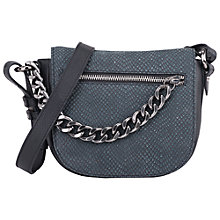 Buy French Connection Dana Chain Leather Cross Body Bag, Black Croc Online at johnlewis.com