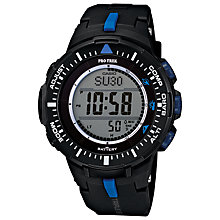 Buy Casio PRG-300-1A2ER Unisex Pro Trek Resin Strap Watch, Black Online at johnlewis.com