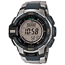 Buy Casio PRG-270D-7ER Unisex Pro Trek Resin Strap Watch, Black/Silver Online at johnlewis.com